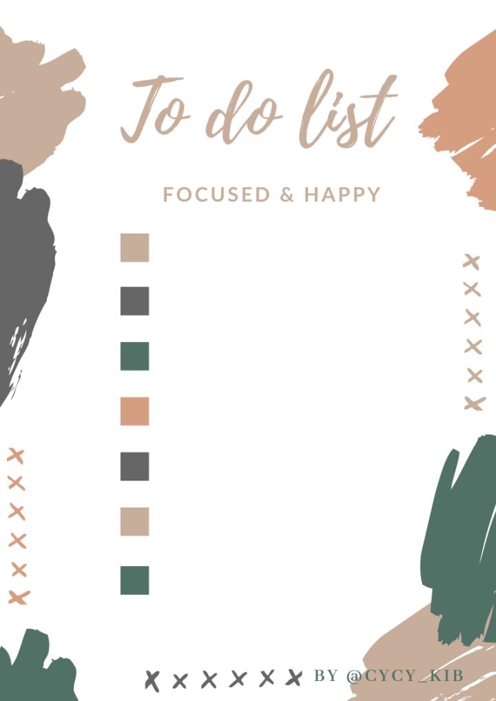 To Do List pour être productive